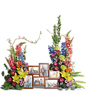 Loving Farewell Photo Tribute Bouquet Arrangement in Ann Arbor, MI | Chelsea Flower Shop