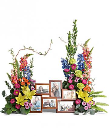 Loving Farewell Photo Tribute Bouquet Arrangement