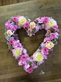 loving heart Open heart in a mixture of pinks and lavenders