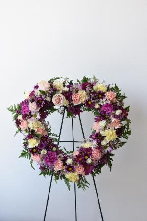 Loving Heart Standing Wreath