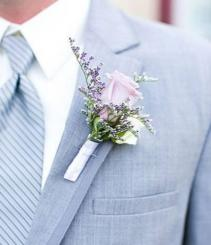 LOVING LAVENDER Prom Boutonniere