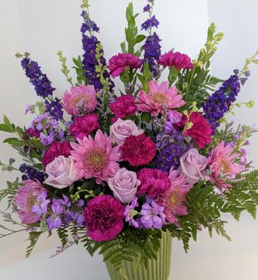 Loving Lavenders Sympathy Arrangement