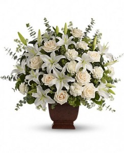 Loving Lilies and Roses Bouquet One Sided Arangement