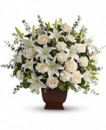 Loving Lilies and Roses Bouquet sympathy arrangement