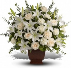 Loving Lilies And Roses Bouquet T216-1A  in Merced, CA | TIOGA FLORIST INC.