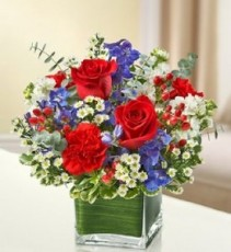 Old Faithful Red, White and Blue Cube Arrangement
