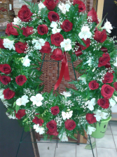 Red and White  LARGE WREATH