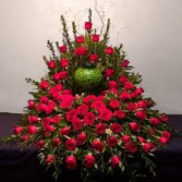 Loving Memories Red Rose Floral Arrangement