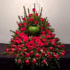 Loving Memories Red Rose Floral Arrangement in Lexington, NC   RAE'S NORTH POINT FLORIST INC.