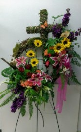 A Loving Touch Sympathy Wreath Standing Sprays