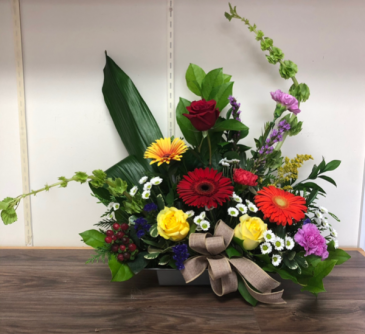 Loving memories Sympathy arrangement