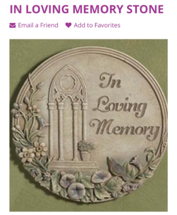 Loving Memory Stone