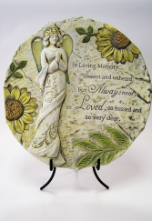 Loving Memory - Sunflower Memorial Stone