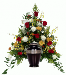 Loving Memory Urn Arrangement Cremation Flowers (urn not included)