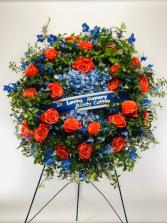 Loving Memory Wreath  Standing Spray