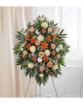 LOVING PEACH STANDING SPRAY STANDING FUNERAL PC