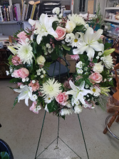 Loving pink and white wreath