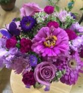 Loving purple Vase arrangement