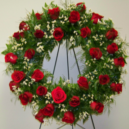 Loving Rose Memories Sympathy Wreath