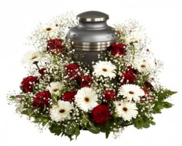 LOVING SEND OFF Encircling Urn Arrangement