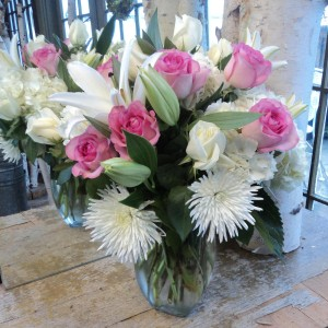 Loving Tenderness vase arrangement in North Adams, MA | MOUNT WILLIAMS GREENHOUSES INC
