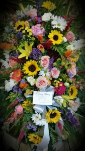 Loving Tribute Standing Spray in Northport, NY | Hengstenberg's Florist