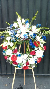 Loving Tribute Wreath Funeral Flowers