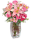 SUNSET WALTZ Vase of Flowers
