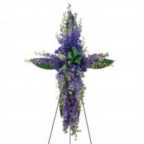 Lovingly Lavender Cross Standing Spray