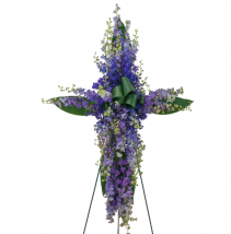 Lovingly Lavender Cross Standing Spray