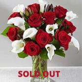 Lovingly Yours Rose Calla Lily bouquet