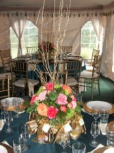 Low Table Centerpiece Wedding Flowers