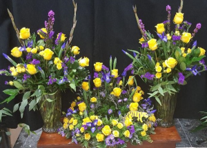 LSU URN PIECE AND 2 VASES  in Baton Rouge, LA | FLOWER BASKET