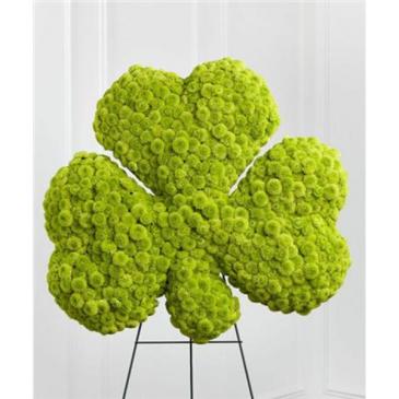 Luck of the Irish Clover Wreath
