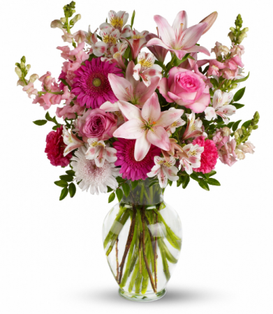 Lucky In Love Romantic Floral Arrangment
