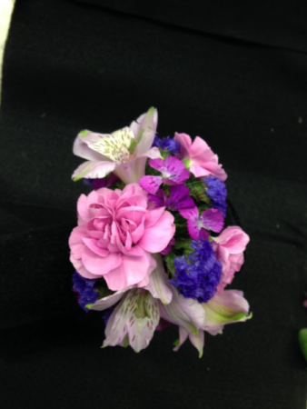 Lucky Lavender Wrist Corsage