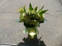 Lucky Mason Jar Fresh Cut Garden Flowers