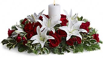 Luminoues Lilies Centerpiece