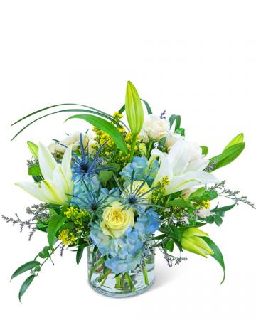 Luna Blue Flower Arrangement