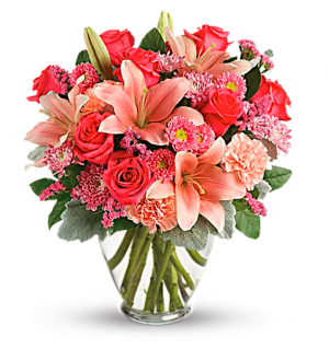 Luscious Blush Arrangement in Redlands, CA | REDLAND'S BOUQUET FLORIST & MORE