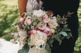Luscious in Pink & White  Bridal Bouquet