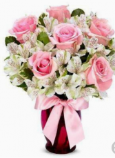 Lush And Passionate       FHF-33 Vase Arrangement