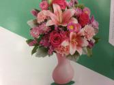 lush Blush arrangement  Vase arrangement