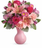 Lush Blush Bouquet Vase
