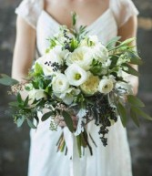 Lush Garden Wedding Hand Gathered Bouquet