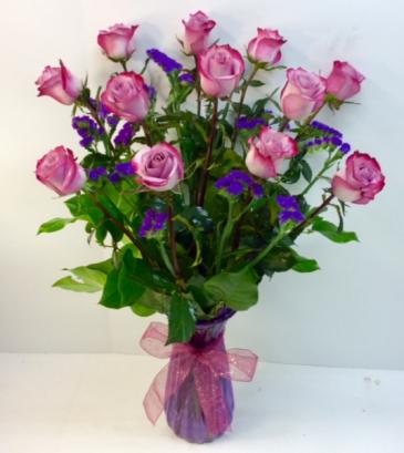 Lush Lavender Rose Arrangement