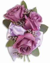 Lush Lavender Roses Corsage