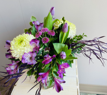 lush lavender Vase Arrangement