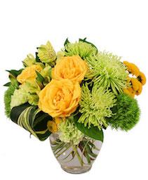 Lush Lemon Roses Flower Arrangement