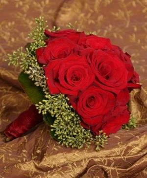 Lush Red Roses Wedding Bridal Bouquet in Buda, TX | BUDAFUL FLOWERS